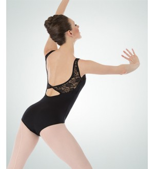 Body Wrappers Tank Lace Bodice Leotard - P221