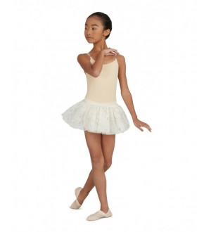 Capezio Camisole Leotard with Clear Transition Straps - Child