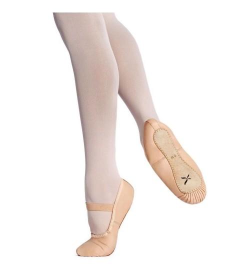 Capezio Clara Full Sole Ballet Shoes - Child U209C