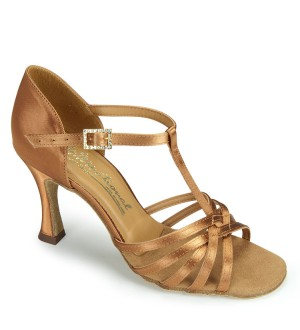 International Dance Shoes Bela - Tan Satin