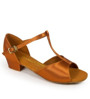 International Dance Shoes G1011 - Tan Satin