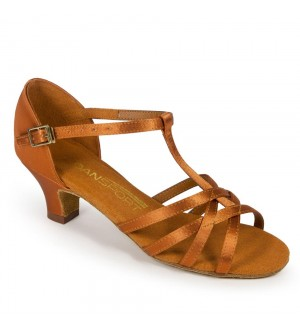 International Dance Shoes G1012 - Tan Satin