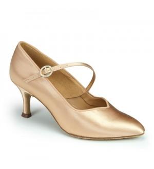 International Dance Shoes ICS SuperStar SingleStrap - Flesh Satin