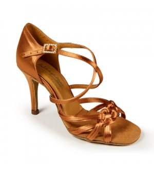 International Dance Shoes Katarina - Tan Satin