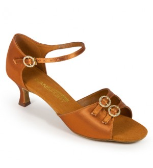 International Dance Shoes S4014 - Tan Satin