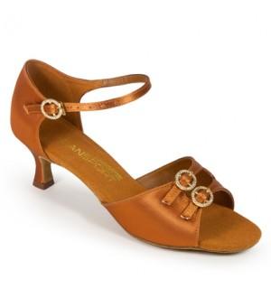 International Dance Shoes S4014 - Tan Satin