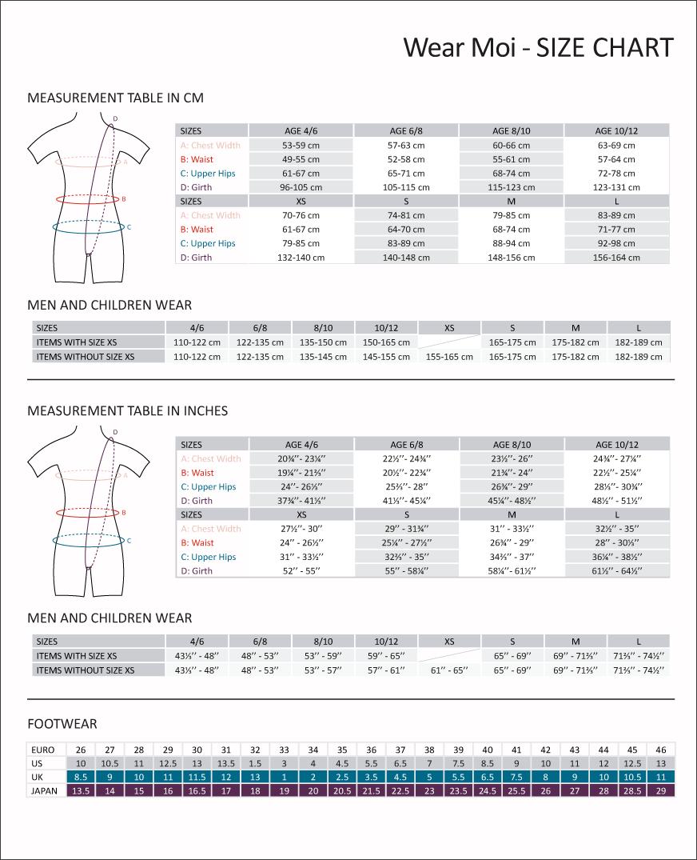 wear moi size guide